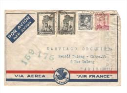 Spanish Air Mail Cover 1938? Republica Espagnola Censura (159-175) To France PR2647 - 1931-Today: 2nd Rep - ... Juan Carlos I