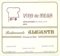 PREMIA DE  MAR ETIQUETTE PUBLICITE VIN DE TABLE  VINO DE MESA RESTAURANTE ALICANTE ESPAGNE - Etiquettes