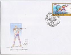 453 A Latvia  2002 Olimpic Games Salt Lake City  Lettland Biathlon Skiing FDC - Letland