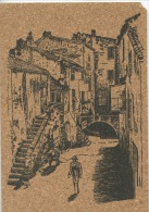 La Corse : Calvi - Vieille Rue - Peinture Sur Liège Inaltérable (ed Rayar - Calvi