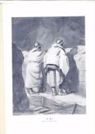 Reproduction Dessin De Pierre Lissac La Nuit  Guerre 1914/1918 Soldat Dans Les Tranchées - Dessins
