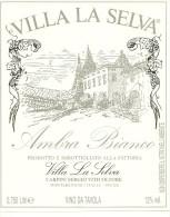MONTEBENICHI ETIQUETTE PUBLICITE VIN VILLA LA SELVA AMBRA BLANCO VITICOLTORE ITALIA ITALIE - Blancs