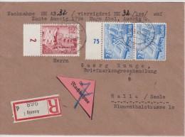 ALLEMAGNE  1940 LR ET C/R DE AUSSIG - Covers & Documents