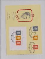 BELGIE - BELGIQUE  2 Herdenkingskaarten  1811/15 + Blokken 50 En 51  -  Eedaflegging Koning Boudewijn - Cartes Souvenir