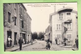 BOURG ARGENTAL - Rue De La République Et Boulevard D' Amendey - Beau Plan Animé - Edition Celle - 2 Scans - Bourg Argental