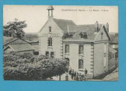 CPA La Mairie - L'Ecole HAUTEVILLE 51 - Other Municipalities