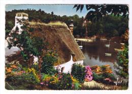 PONT AVEN  CHAUMIERE SUR LES BORDS DE L AVEN - Pont Aven