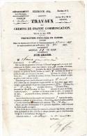 Avis Gratis De Travaux De Grande Communication De 1854 Villars;brantome;Firbeix - Sin Clasificación