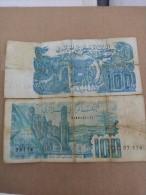 Billet 100 Dinars Algerien Rare(sans Hirondelle) 1982 Très Joli Numéro 44441 - Argelia