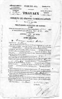 Avis Gratis De Travaux De Grande Communication De 1854 Villars,Brantome ,Firbeix - Sin Clasificación