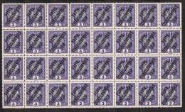 Bloc De 32, Sellos Austria Sobrecargados, Posta Ceskoslovenska 1919, 3 Heller Checoslovaquia , Yvert Num 43 ** - Czechoslovakia