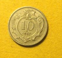10  Heller 1907 - Autriche