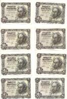 Spain 1 Peseta De 1951 P139  Lot Of 16 Banknotes  (UNC, UNC- And Circulated) - [ 3] 1936-1975 : Régence De Franco