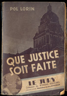 """Collection """"Le Jury"""" - Que Justice Soit Faite - Pol Lorin. - Livres, BD, Revues"""