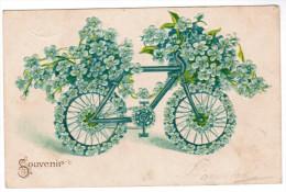 CPA Souvenir, Velo, Fiets, Bicyle, Carte Gaufrée, Reliëf (pk27598) - Other