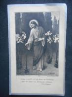 """Image Pieuse Double """"A La Mémoire"""" De Elzida NICOLAS -1933- Basse-Terre (avec Photo) - Religion & Esotérisme"""