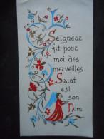 Image COMMUNION PRIVEE -enluminure- Agnès TRAN VAN Notre-Dame Du Rosaire -1968 - Religion & Esotérisme