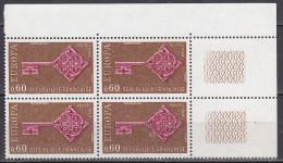 N°1557 Europa 1968:  Bloc De 4  Timbres Neuf Sans Charnière - Neufs