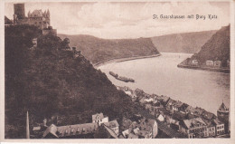 Alemania--St.Goarshausen Mit Burg Katz - Castillos