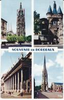 Gironde 33 BORDEAUX CPSM - 5 Tour Pey Berland, Grosse Cloche, Colonnade, Flêche St Michel Ed. Benaud ( Flamme) - Bordeaux