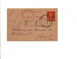 MAUBEUGE A PARIS SUR ENTIER SEMEUSE DU 12/3/1914 - Marcophilie (Lettres)