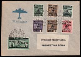Occupazione Jugoslava FIUME - Busta Affrancata Con Monumenti Distrutti Soprastampati - Bollo: Fiume 27.3.1946