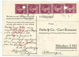 OBLITERATION TOULOUSE A BORDEAUX SUR CARTE A EN TETE POUR L'ALLEMAGNE DU 15/7/1938 - Marcophilie (Lettres)