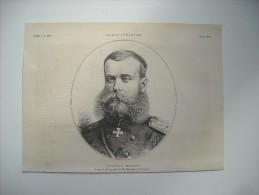 GRAVURE 1882. LE GENERAL RUSSE, SKOBELEFF. - Vecchi Documenti