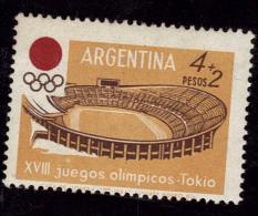 ARGENTINE   N°  689 * *   Jo 1964  Football  Soccer   Fussball Stade - Football