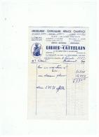 AMEUBLEMENT QUINCAILLERIE MENAGE CHAFFAGE  LIBIER CATTELAIN à AULNOYE (NORD)  1937 - France
