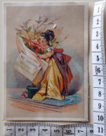 Chromo  / Le Niger Sublimior Cheveux Et Barbe / Gaufrée / Exposition Universelle 1900 / Enfant Bouquet Fleur Chapeau - Autres
