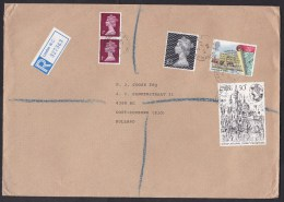 UK: Registered Cover Trafalgar Square To Netherlands, 1985, 5 Stamps, Machin, Customs Labels On Back (2 Stamps Damaged!) - 1952-.... (Elizabeth II)