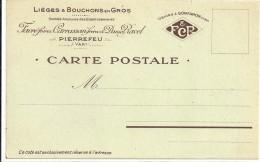 C P A  -  PIERREFEU  Liege Et Bouchons  En  Gros - France