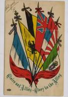 Gloire Aux Alliés , Avec Les Drapeaux Italien Et Japonais - Patriotiques