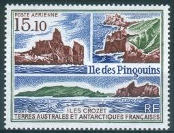 French Antarctic (FSAT), Penguin Island, Crozet, Views Of The Coast, 1988, MNH VF  Airmail - Airmail