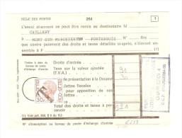 TP 1649 Elström Surchargé T S/Document De La Régie Des Postes 264 Bureau De Charleroi 4  PR2666 - Documents Of Postal Services