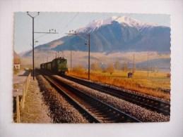 Train Des CFF Circulant Sur La Ligne Du Simplon Dans Les Années 1960 - Treni