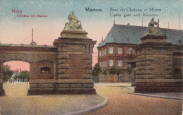 Alemania--Mainz--1923--Pont Du Chateau Et Musee-----a, Francia - Castillos
