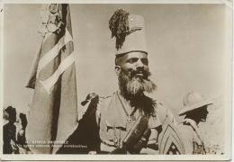 Afrique : Erythrée - Afrique Orientale - Un Nostro Valoroso Ascaro Portabaniera (soldat Porte Drapeau) - Erythrée