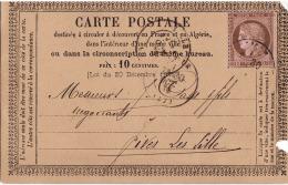 Entier Postal Carte Précurseur N9 Chamois - Entiers Postaux