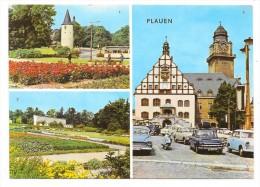 Cpsm: ALLEMAGNE - PLAUEN  Rathaus (Multivues, Cars, Scooter) - Plauen