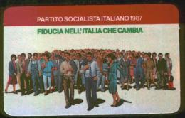 PARTITO SOCIALISTA ITALIANO - TESSERA DEL 1987 - Documentos Históricos