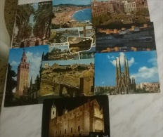 9 CART.  SPAGNA - Cartoline