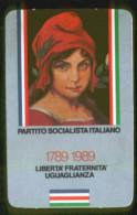 PARTITO SOCIALISTA ITALIANO - TESSERA DEL 1989 - Documentos Históricos