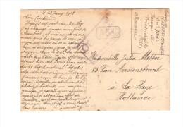 PDG-POW Friedrichsfeld En 1918 Censure V.La Haye Hollande PR2669 - WW I