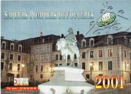 Sapeurs Pompiers De FOUGERES (35),  Année 2001, Pages, Publicités Locales, - Grand Format : 2001-...