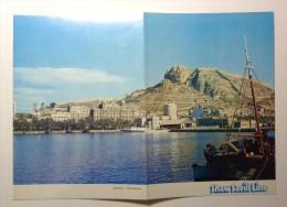 SHAW SAVILL Line. - S.S. OCEAN MONARCH Paquebot. Menu 19 September 1972. Cover With A View Of Alicante - Menú