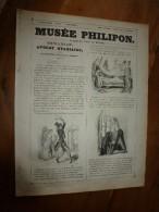 """1840  """" CHICANEAU """" Avocat Stagiaire   Musée PHILIPON  : Musée Et Magasin Comiques  ,dessins De Ch. Vernier - 1800 - 1849"""