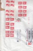 Francia 2012 - Bustone Raa.   X L´Italia Affrancato Con 27 Stamps - France