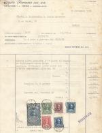 MB47  -- FATTURA CONMERCIALE, DEL  11.11.1955,  TORINO. - Italia